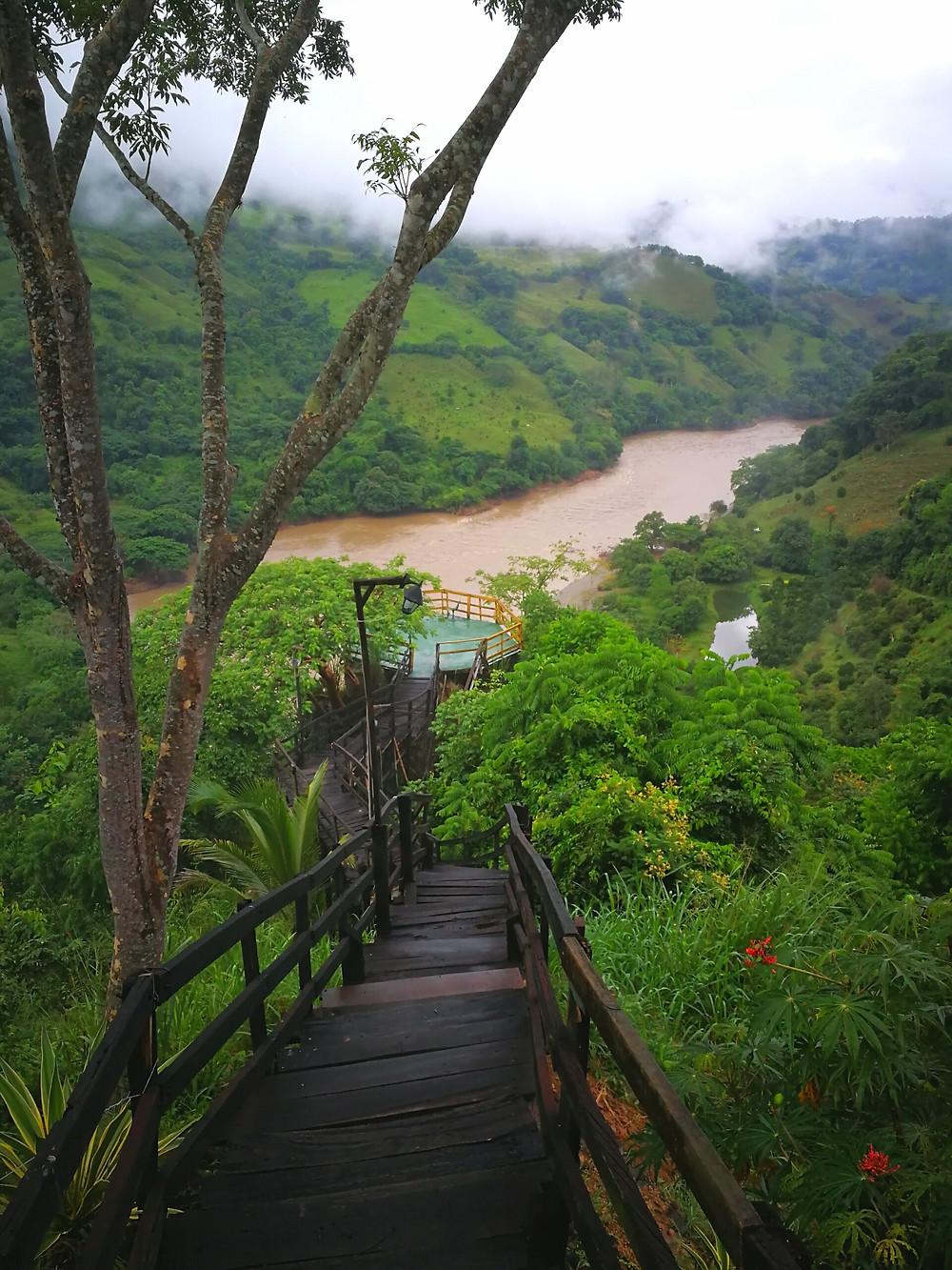 Mirador de la Pintada, Rio Cauca, Colombie