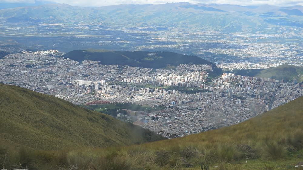 Quito vu d'en haut, téléphérique