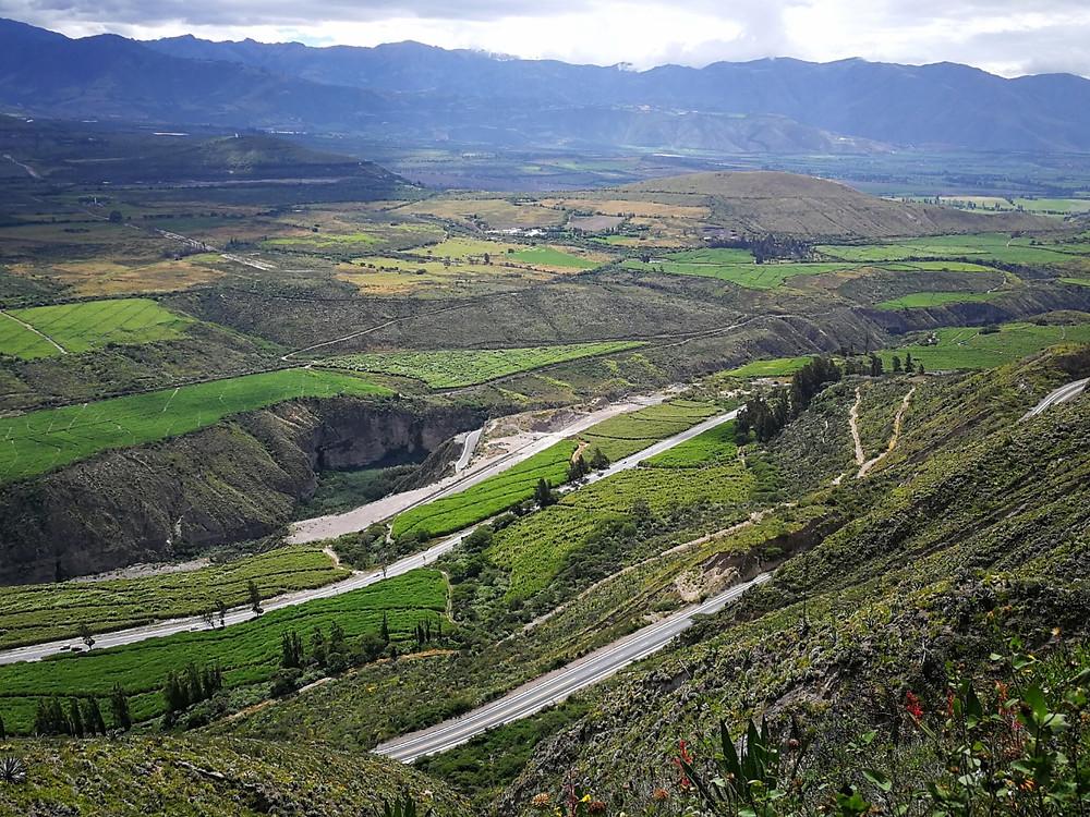 La route pour Ibarra, Equateur à vélo