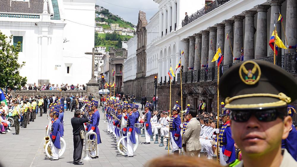 Relève de la garde présidentielle, Quito, Equateur