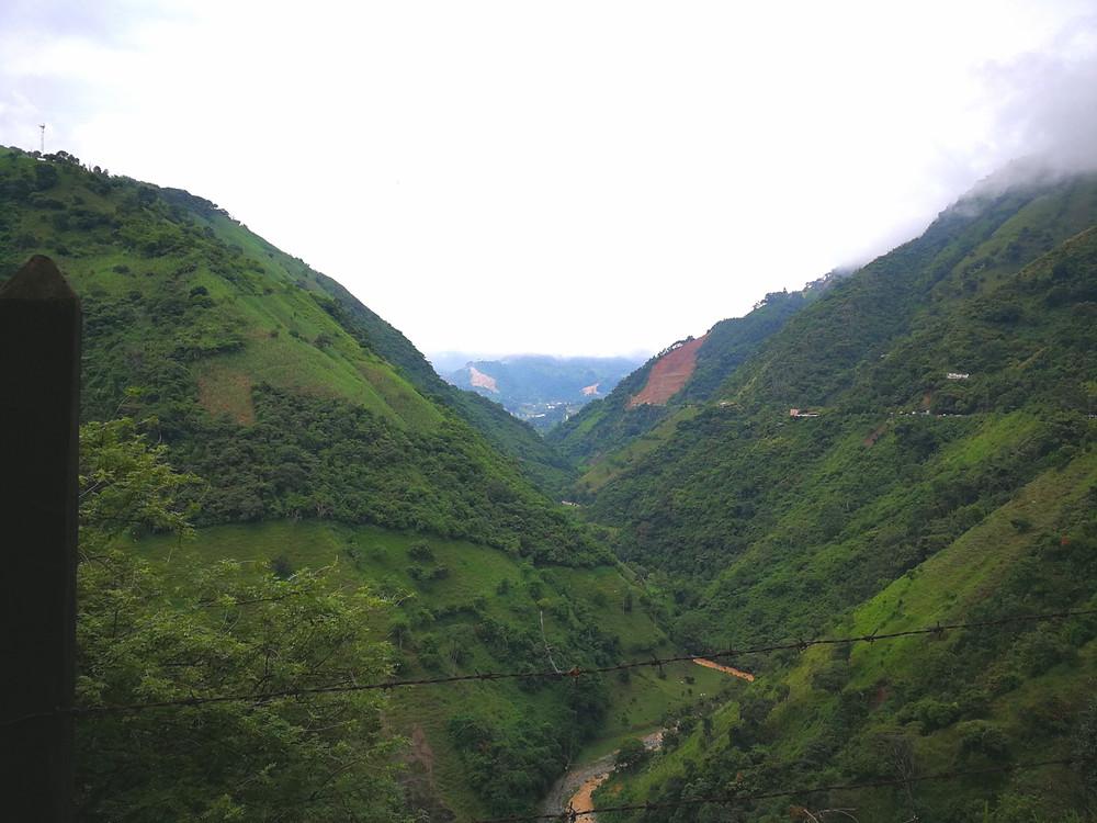 Rio Cauca, Colombie à vélo