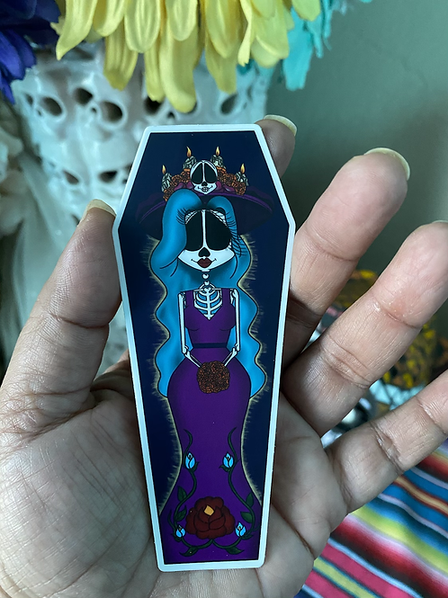 Catrina Coffin Sticker