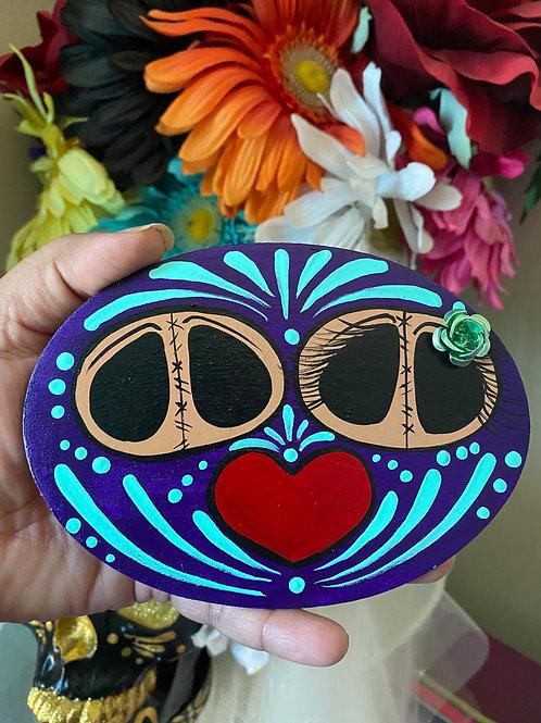 Large oval wood magnet