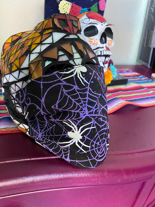 Purple Web Spiders Glow in the dark Mask