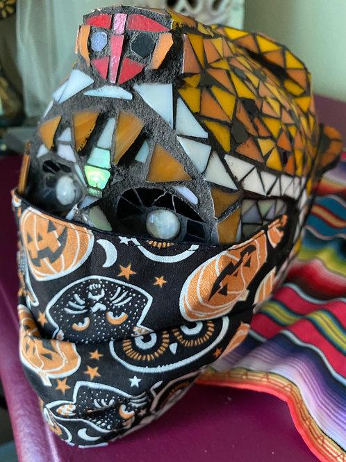 Halloween Pumpkin, Owl, and Cat Mask
