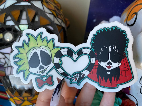Beetle Juice and Lydia Sticker