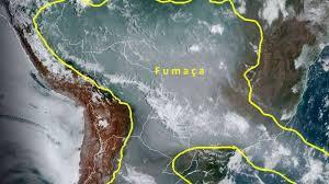 Ondas de fumaça das queimadas no Pantanal se deslocam para países da América do Sul
