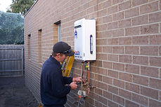 Hot water system installation