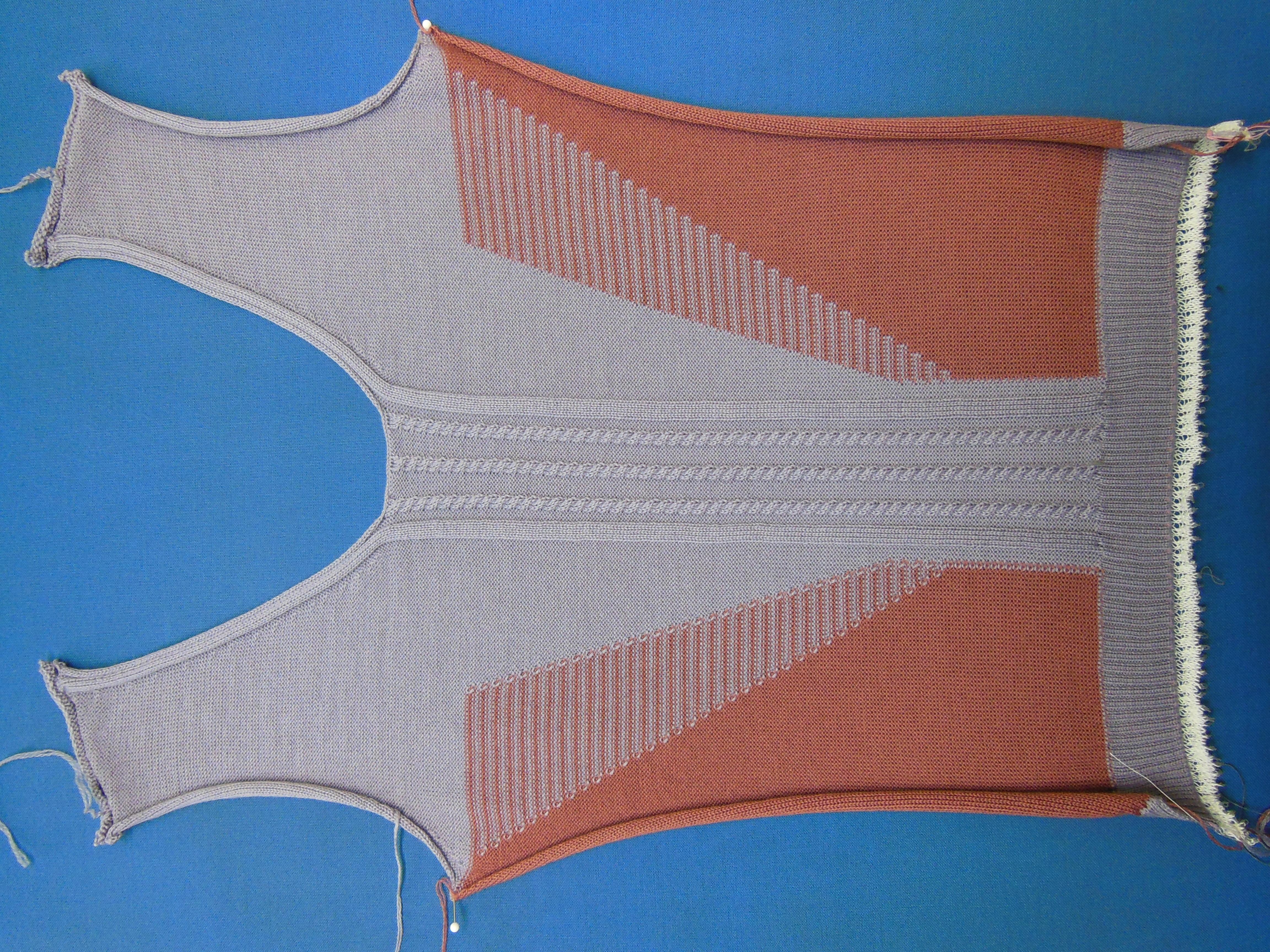 VT FF mit Intarsien und 2x2 Zopf