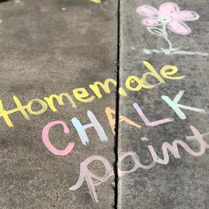 Fun With Sidewalk Chalk Paint