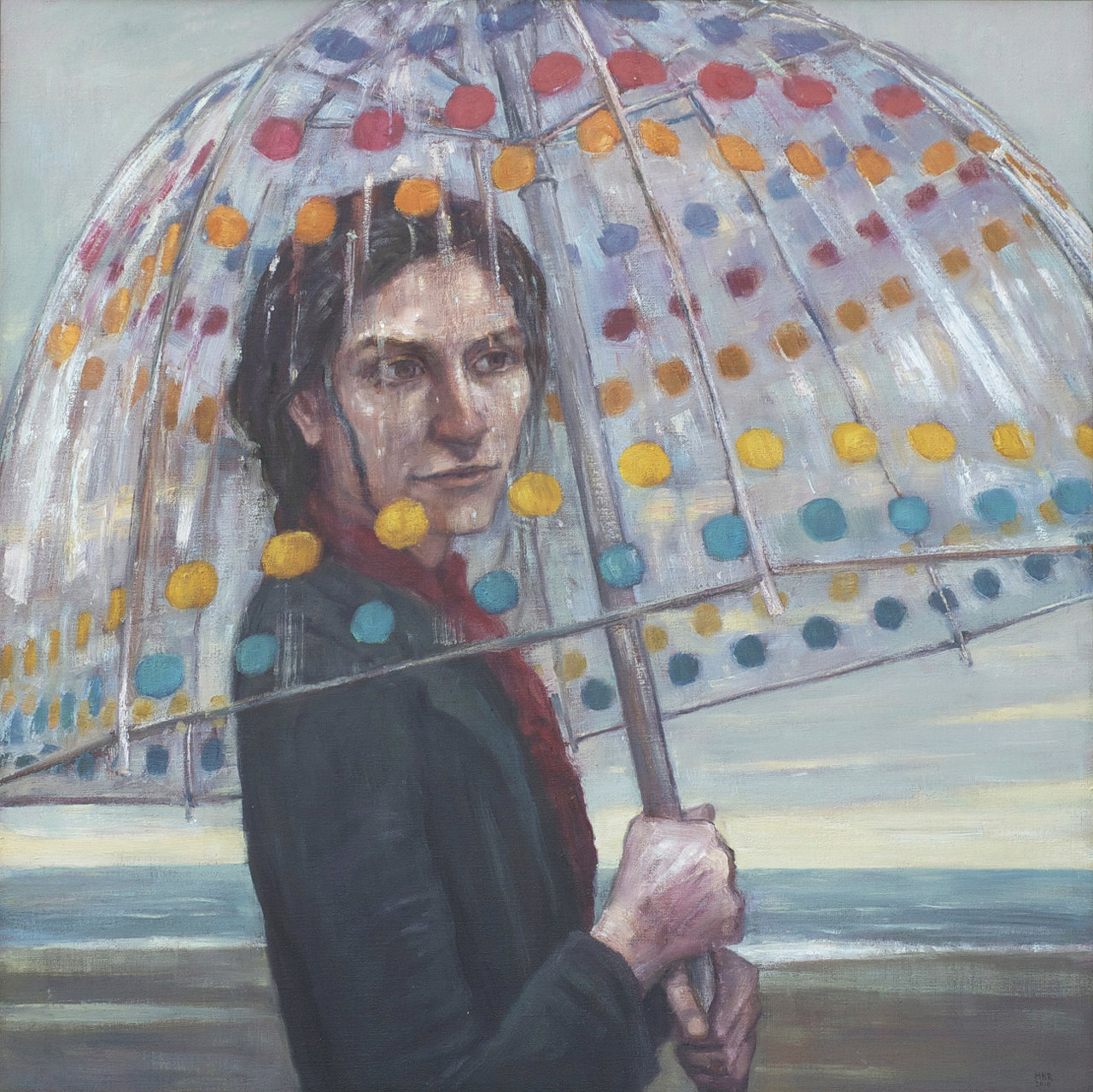 Woman in the Rain MKR (31x31 2010).jpg