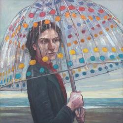 Woman in the Rain MKR (31x31 2010).jpg