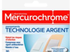 Mercurochrome Pansements technologie argent, 30 unités