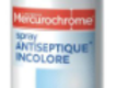 Mercurochrome spray antiseptique incolore, 100ml