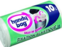 Handy bag sacs poubelle x20 a liens classiques 10l salle de bain