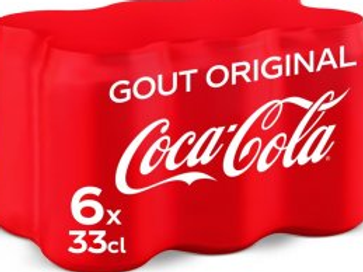 Coca-Cola boite 6x33cl