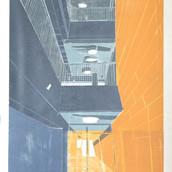 ענת קינן, ללא כותרת (מוזיאון הטבע) (פרט), 2019, מיצב , חיתוכי עץ על נייר,