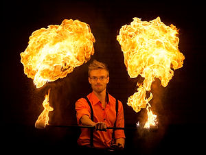 Fire performer London