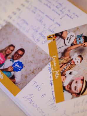Fotoalbum na svadbu, Kniha hostí