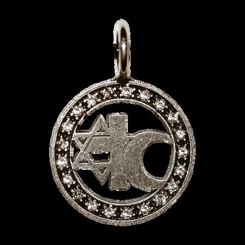3er-Zeichen, Sterling Silber oxidiert small