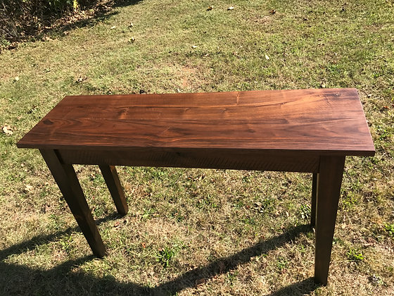 Tall Walnut Serving Table