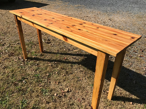 Tall Reclaimed Pine Serving Table