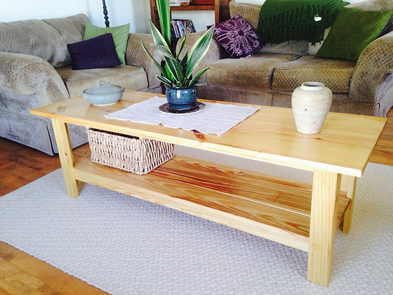 The LATTE Coffee Table ~Yellow Pine Coffee Table