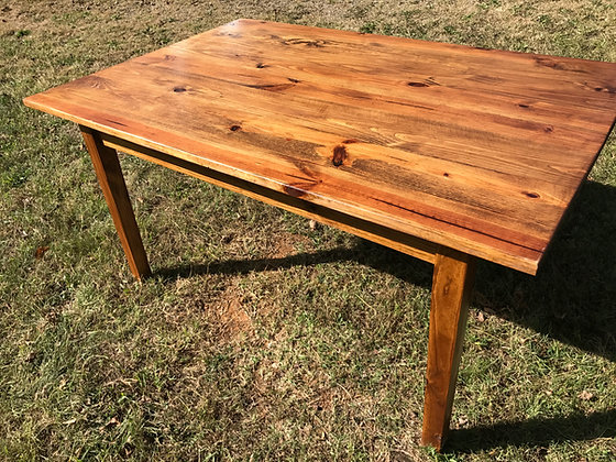 Early American Yellow Pine Farm House Table