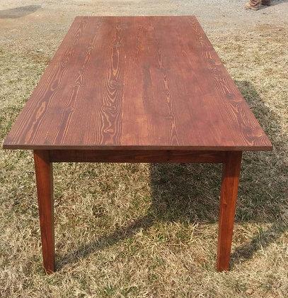 Extra Long Yellow Pine Farm House Table