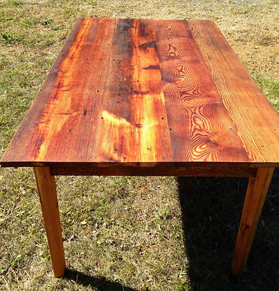 SOLD OUT - Reclaimed Heart Pine Farmhouse Table
