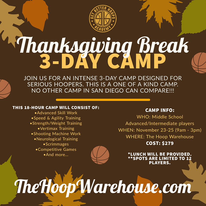 Thanksgiving Break 3-Day Camp