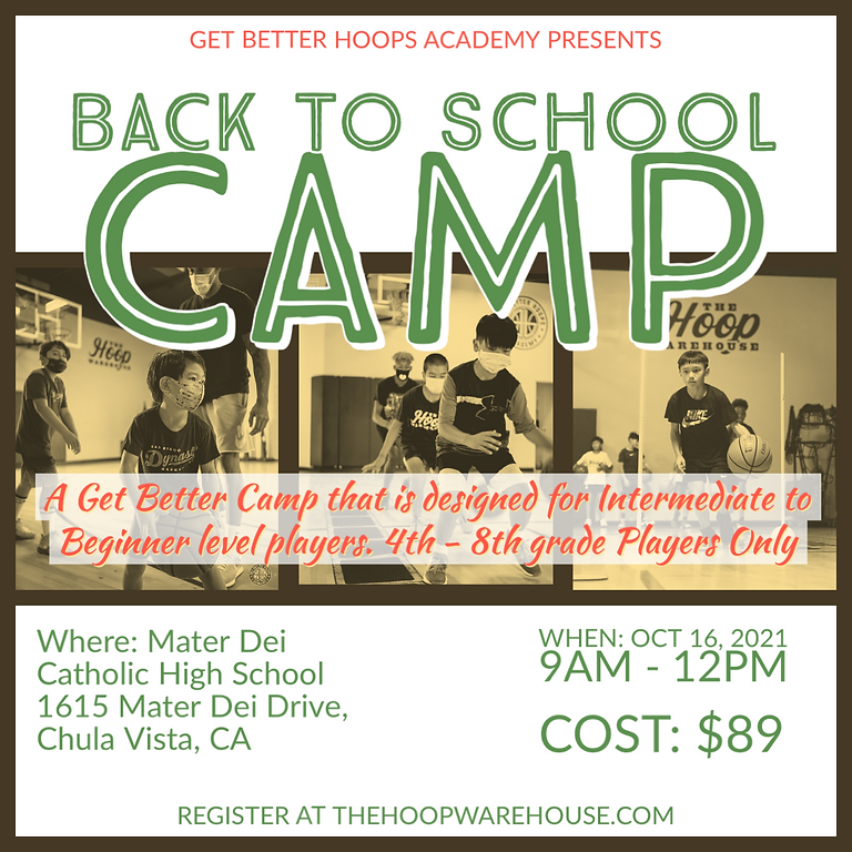 Get Better Back to School Camp