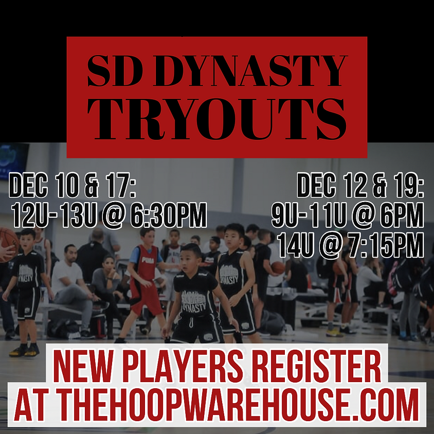 SD DYNASTY WINTER TRYOUTS