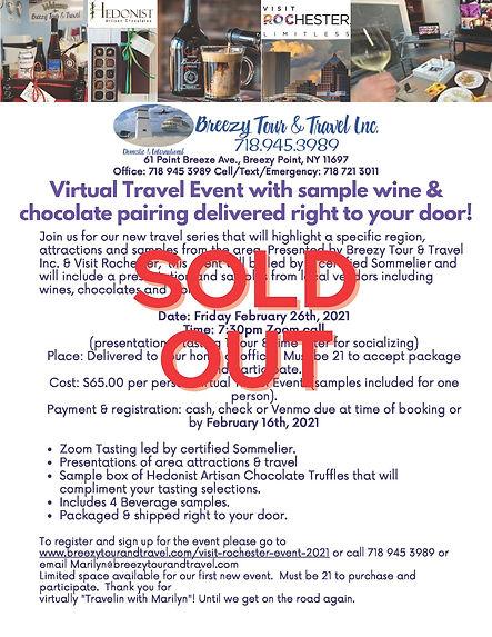 Virtual Travel and sample wine & chocola