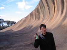 Tom in WAVE ROCK
