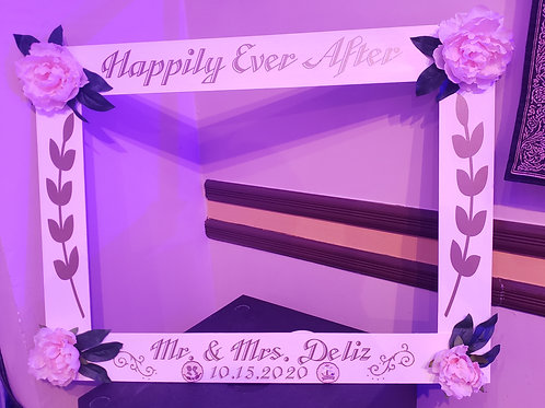 Personalized Wedding Picture Frame Prop