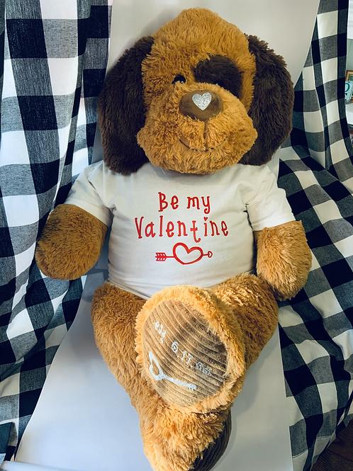 Personalized Valentine's Day Bear - Be My Valentine