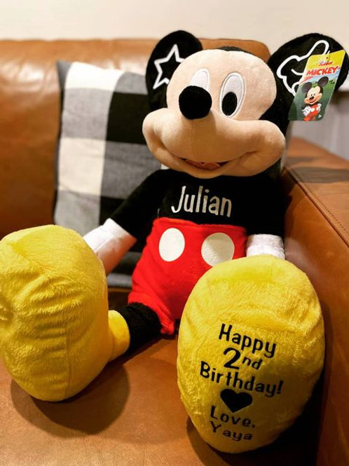 Personalized Mickey Mouse Plush