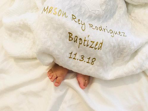 Personalized Baptism Blanket