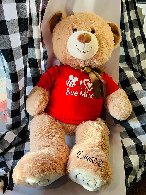 Personalized Valentine's Day Bear - Bee Mine