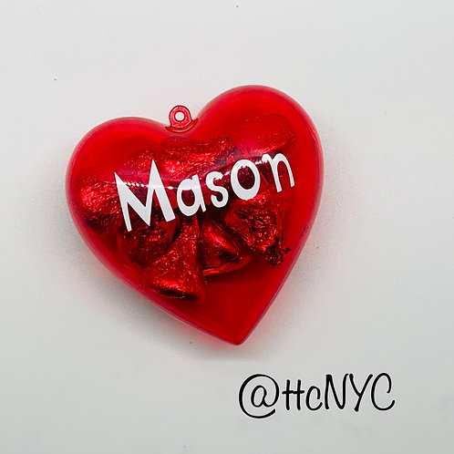 Personalized Valentine's Day Heart Candy Holder