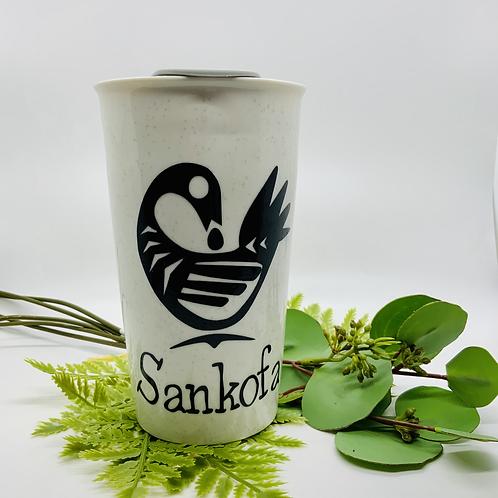 Sankofa Ceramic Travel Mug