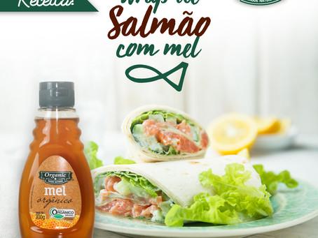 Wrap de Salmão com Mel Organic