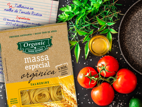 Talherine Organic com Molho de Tomate Rústico