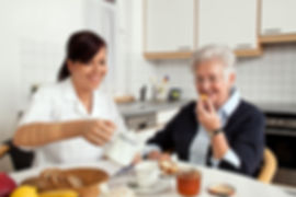 SilverBirch Healthcare carer helping with care