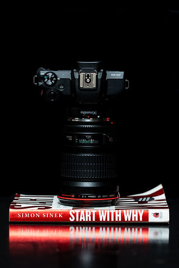 black-dslr-camera-on-start-with-why-by-s