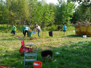 Far west dog park work is underway.