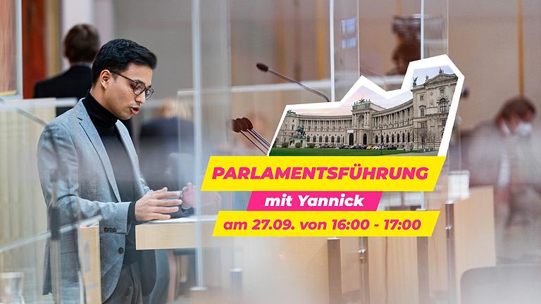 Parlamentsführung mit Yannick