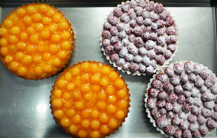 Tartes aux goûts melon ou framboise