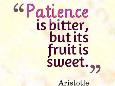 In the Age of Instant Gratification, Be Patient.